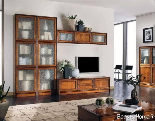 میز تلویزیون دیواری کلاسیک