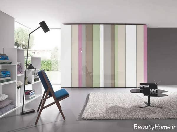 کمد دیواری رنگی