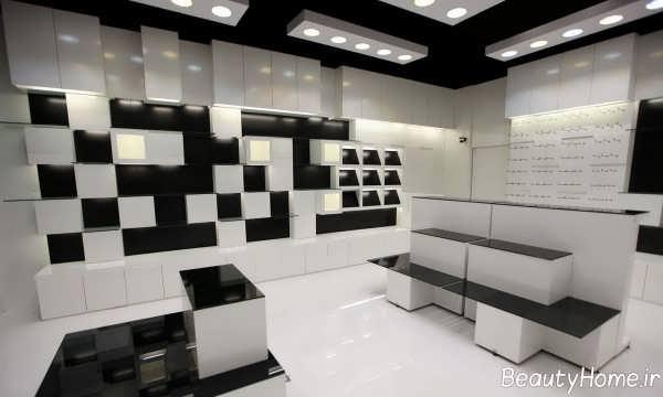 دکوراسیون سفید و سیاه مغازه کوچک