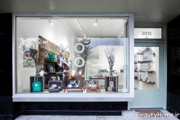 طراحی داخلی ویترین مغازه