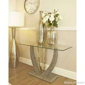 میز کنسول شیشه ای