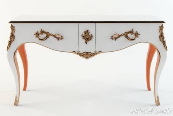 مدل میز کنسول سفید