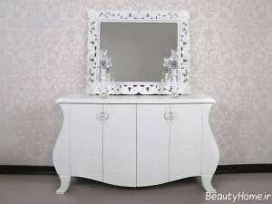 میز کنسول و آینه کلاسیک
