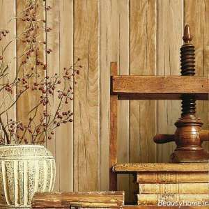 طرح کاغذ دیواری چوبی شیک