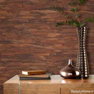 کاغذ دیواری با طرح چوب