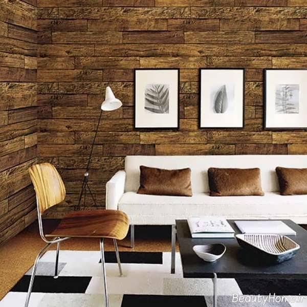 کاغذ دیواری طرح چوب