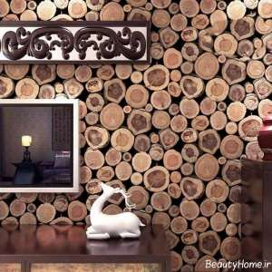 کاغذ دیواری چوبی