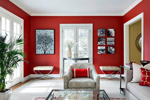 رنگ قرمز در دکوراسیون داخلی