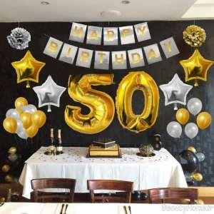 تزیین تولد 50 سالگی