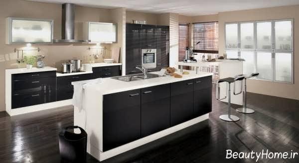 کابینت زیبا و مدرن برای آشپزخانه