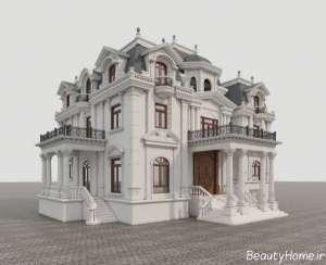 طراحی نمای ساختمان کلاسیک