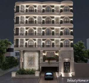 نورپردازی نما برای ساختمان