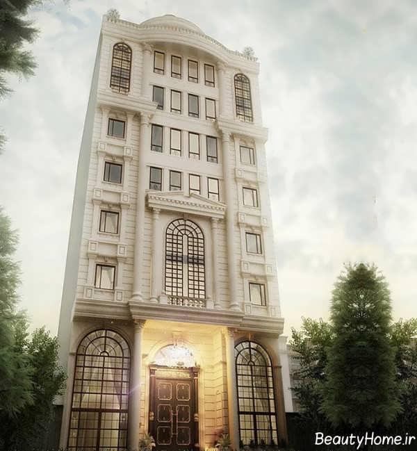 نمای لوکس ساختمان