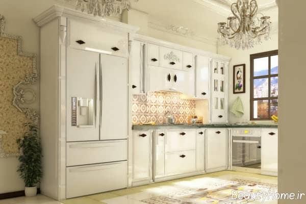 کابینت آشپزخانه کلاسیک و زیبا