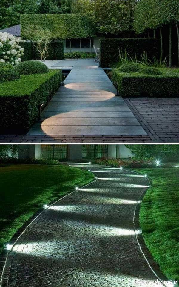طراحی شیک راهروی باغ