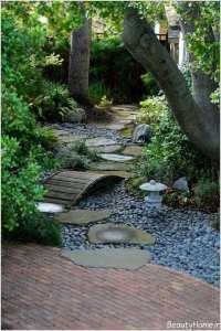طرح زیبا برای راهروی باغ