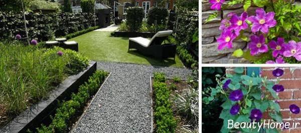 طراحی ساده راهرو باغ