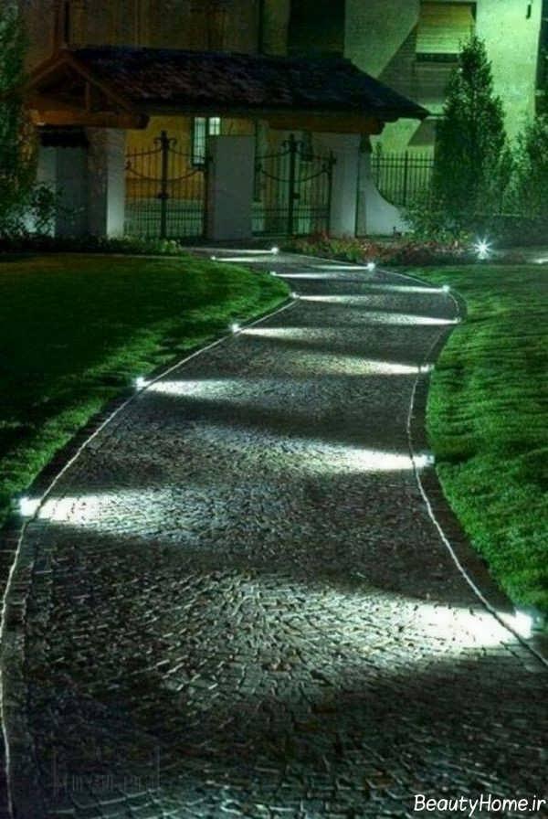 طراحی نورپردازی باغ