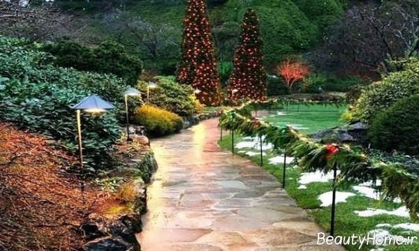 طراحی زیبا و شیک راهروی باغ