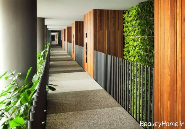 دیزاین زیبا و متفاوت راهروی باغ