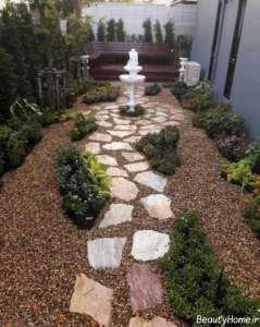 طراحی زیبا برای راهروی باغ