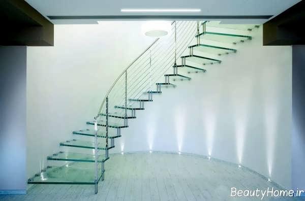 راه پله مدرن و زیبا