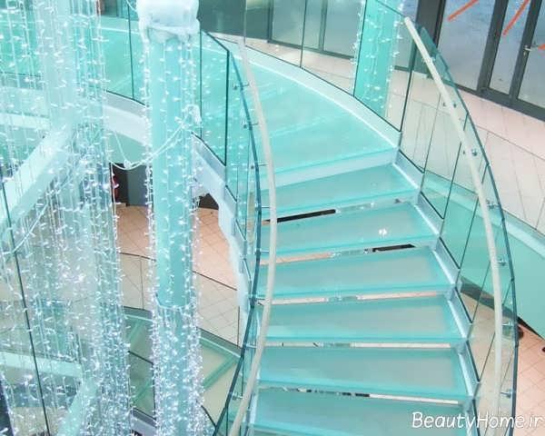مدل پله شیشه ای