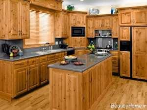 دکوراسیون آشپزخانه چوبی