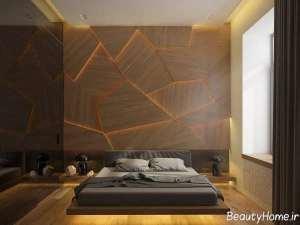 دیزاین اتاق خواب چوبی