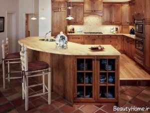دیزاین داخلی منزل با چوب