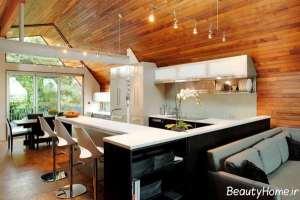 دکوراسیون آشپزخانه با چوب