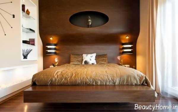 دکوراسیون داخلی اتاق خواب با چوب