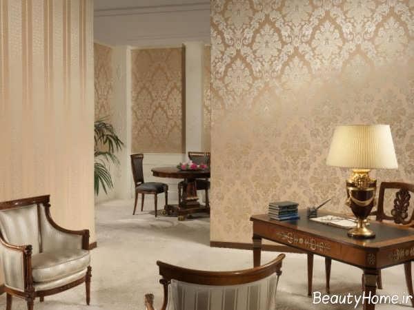 کاغذ دیواری برای سالن پذیرایی کلاسیک