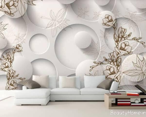 مدل کاغذ دیواری اتاق پذیرایی