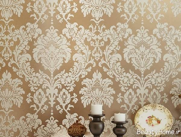کاغذ دیواری با طرح کلاسیک