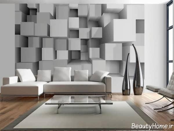 کاغذ دیواری شیک و سه بعدی