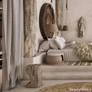 طراحی داخلی اتاق خواب مدیترانه ای