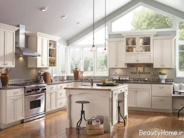 دکوراسیون آشپزخانه کلاسیک و شیک