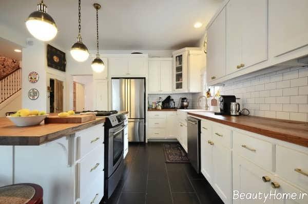نورپردازی آشپزخانه کلاسیک