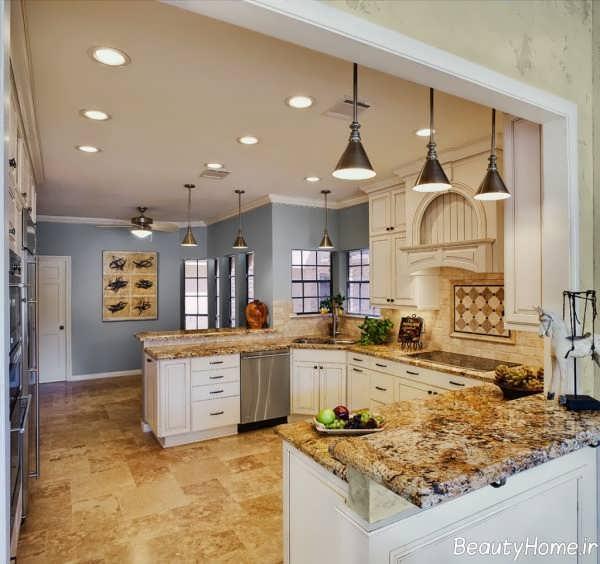 دکوراسیون آشپزخانه زیبا و کلاسیک