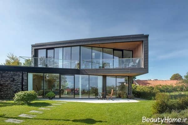 نمای شیشه ای ساختمان مدرن
