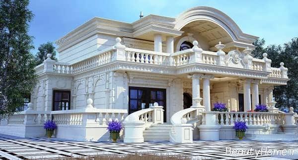 نمای رومی ساختمان ویلایی