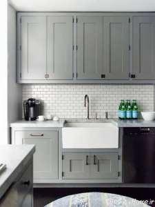 دکوراسیون زیبا از آشپزخانه طوسی