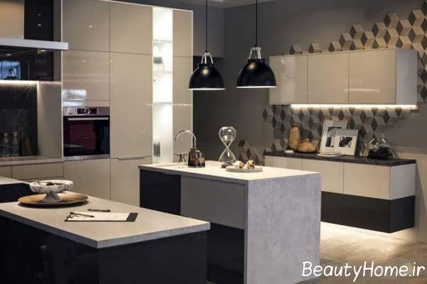 دکوراسیون آشپزخانه طوسی