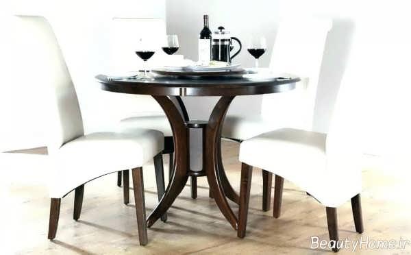 مدل میز ناهارخوری کلاسیک سفید