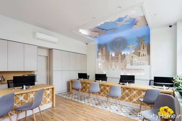 دیزاین داخلی دفتر هواپیمایی