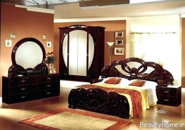 دکوراسیون اتاق خواب سلطنتی