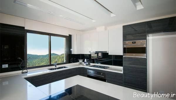 طراحی زیبا و شیک آشپزخانه ویلا