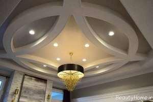 نورپردازی کناف سقف گرد