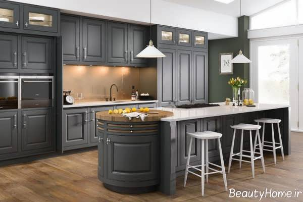 طراحی زیبا و لاکچری آشپزخانه